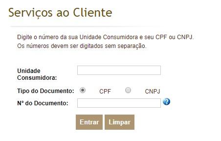 2 via Celesc pelo CPF