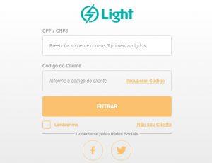 Agência Virtual Light - 2 via conta Light