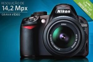 Câmera Nikon D3100 com 14,2 Mpx