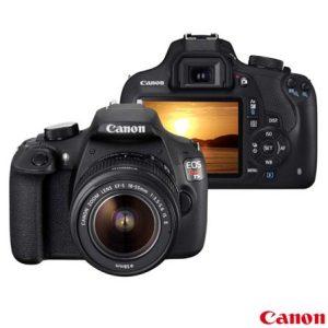 Câmera Digital Canon EOS Rebel T5 Preta 18MP