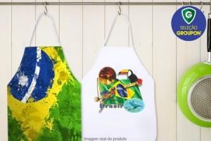 Aventais com tema da Seleção Brasileira