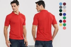 Kit com 3 camisas polo masculinas com bolso