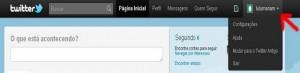Página de configurações do Twitter