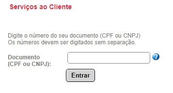 Print da página de login dos Serviços ao cliente Ceee