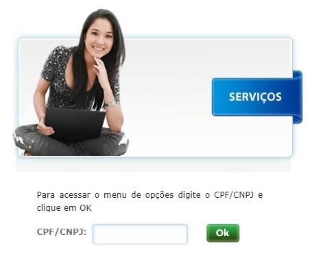 Imagem da Página de acesso a Agência virtual para tirar à 2 via Cagepa