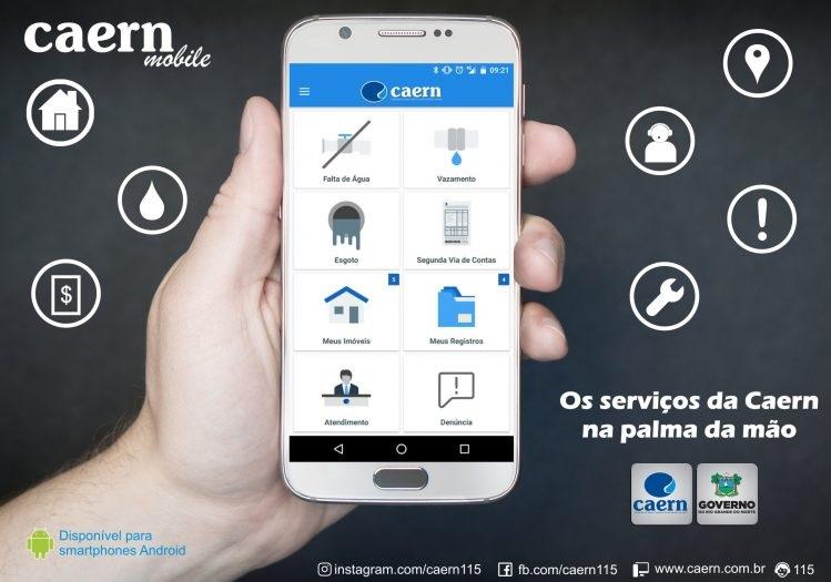 Foto de Smartphone usando o Caern Mobile