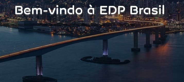 Print da Home do site EDP Energias do Brasil