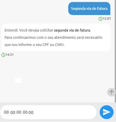 Print do Local para informar o CPF e conseguir a 2 via