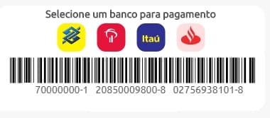 Print da Página com código de barras para o pagamento da Cagece 2 via de fatura