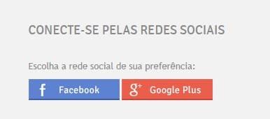 Print de redes socais para você se conectar: Facebook e Google Plus