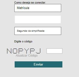 Print da página de acesso a Sanepar segunda via Simplificada