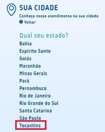 Print com os Estados do Brasil onde exite a  BRK Ambiental