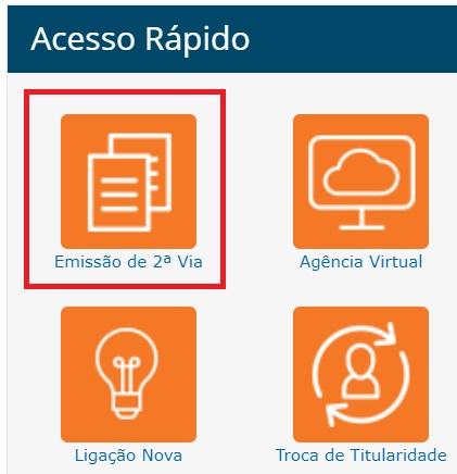 Imagem da Pagina de acesso rápido da Segunda via Equatorial Alagoas
