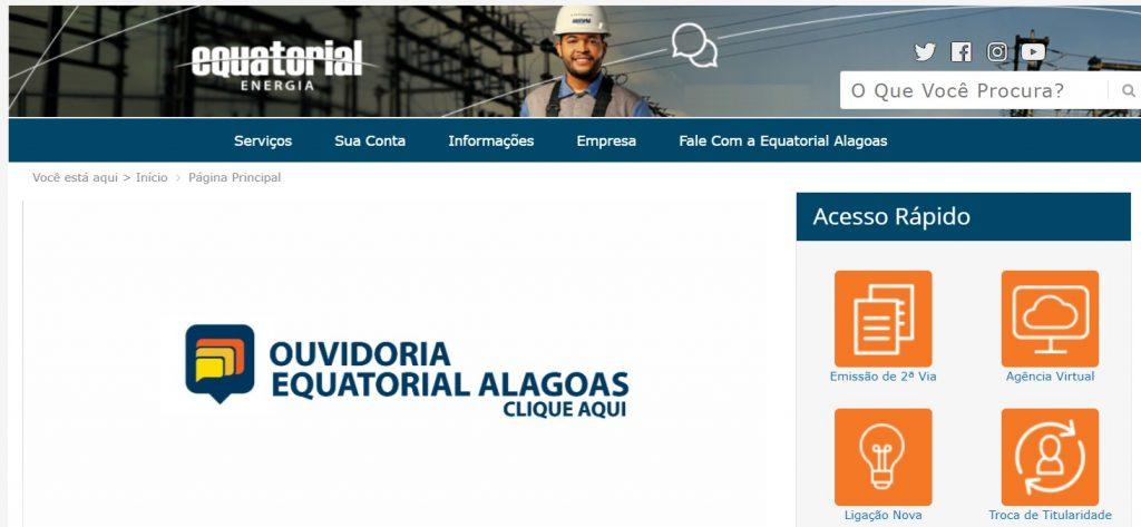 Imagem da site da Equatorial Alagoas