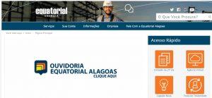 Site da Equatorial Alagoas