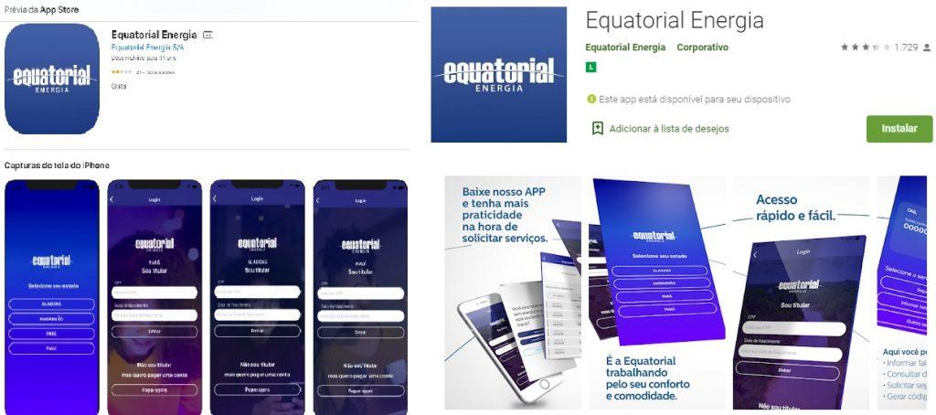 Print do Aplicativo Equatorial Energia para Sistema iOS e Android