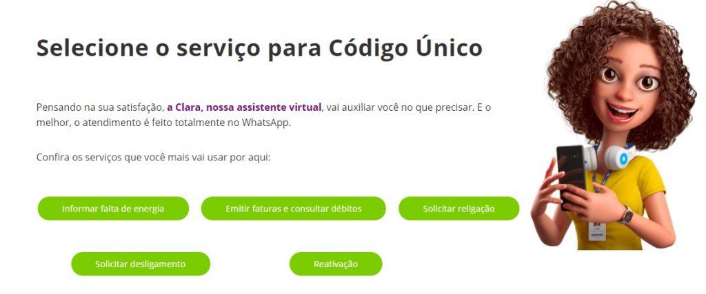 Foto da Clara, atendente virtual da Equatorial Energia Piauí