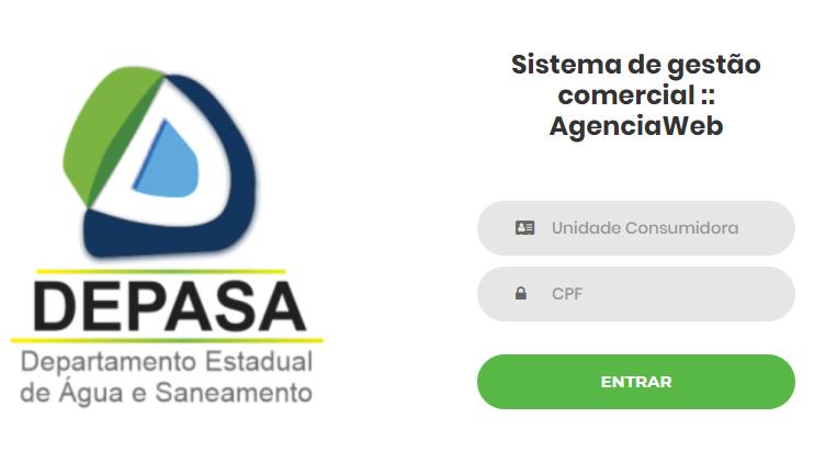 Print da pagina Agência virtual para conseguir a Depasa 2 via