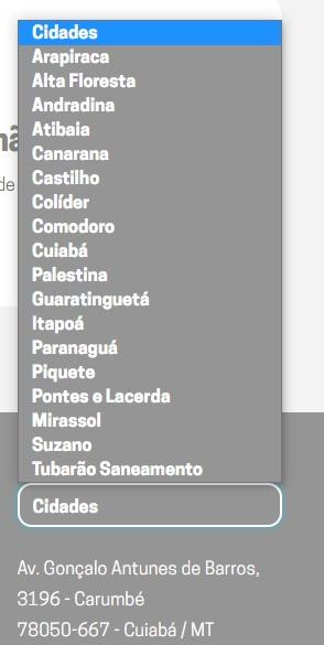 Print das Cidades com postos de atendimento