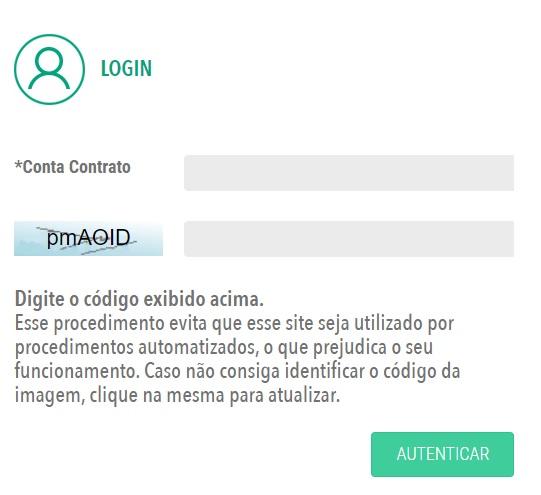 Print da página da Agência virtual de acesso a Coelba segunda via