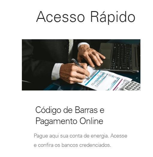 Print da Página de acesso rápido ao código de barras da Enel segunda via Ceará