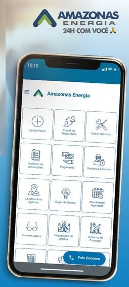 Print do Aplicativo Amazonas Energia - Para conseguir a Amazonas Energia 2 via fatura