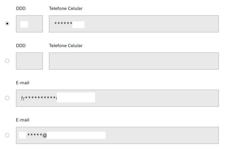 Print do Formulário de cadastro para receber conta de luz Enel Goiás no Email