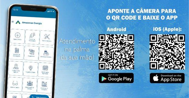 Print do QR code do Aplicativo Amazonas Energia - Loja Móvel para Andoid e iOS