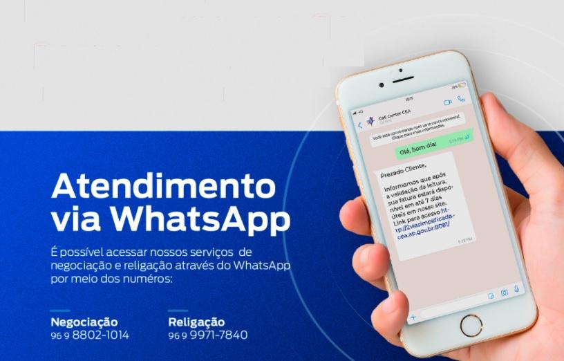 Print do WhatsApp para conseguir a Segunda via Cea AP