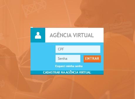 Print da Pagina de login da Agência virtual