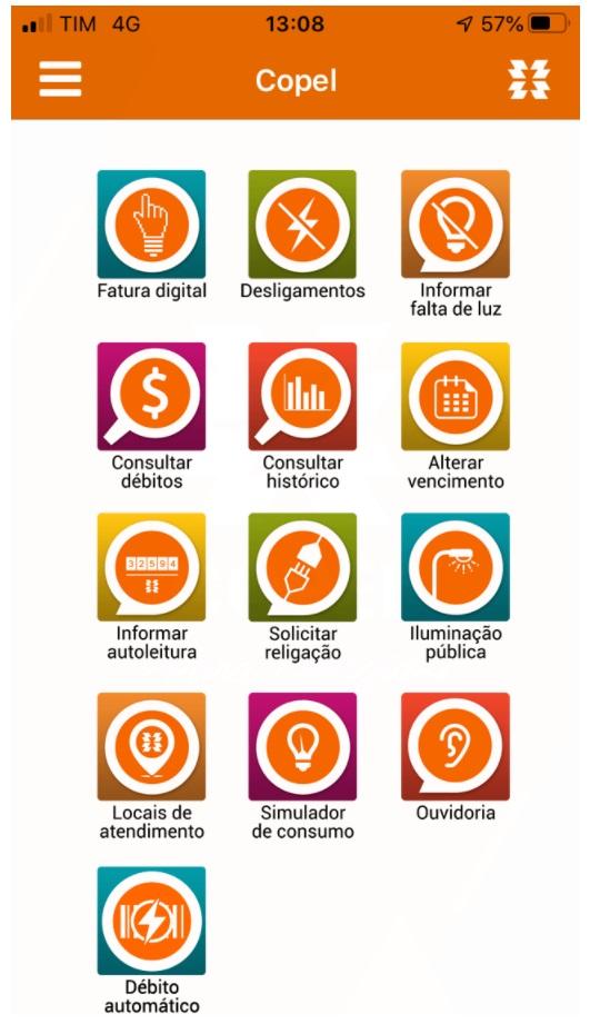 Imagem do APP Copel para iOS e Android